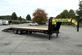 Gooseneck flat bed trailer for sale14k